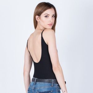 2bd3295a434 Urban Outfitters Tops - UO Out From Under Ribbed Scoop Back Bodysuit